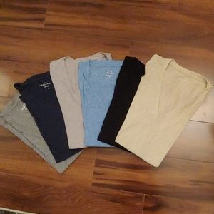 JCrew vintage cotton & speckled cotton vnecks tees